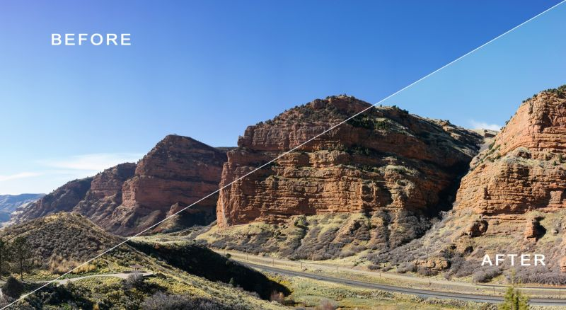 This image shows the contrast before and after using the Roadtrip Preset. | Trung Phan Photography